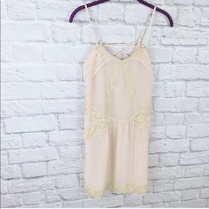 Kimchi Blue Lace Nude Slip Dress
